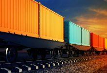 تصویر از خط حمل و نقل کالاهای فلهای ریلی در شلمچه