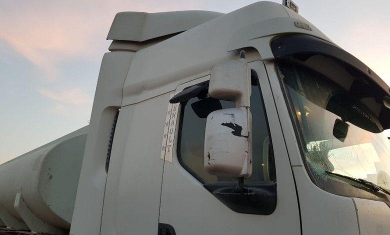 وضعیت یک کامیون پس از حمل بار ترانزیت 9 | آفکو