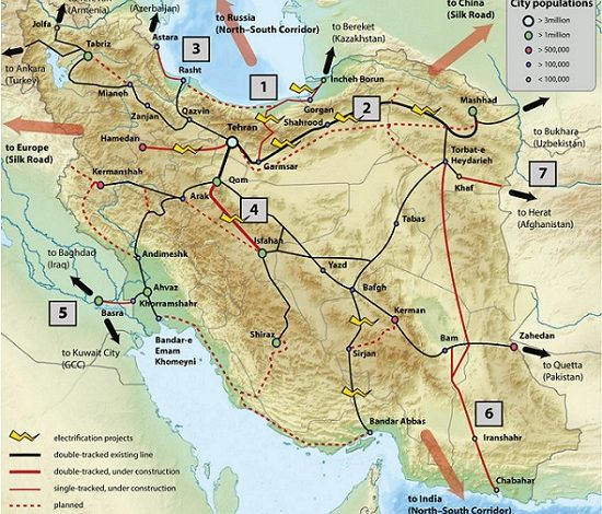 نقشه ترانزیتی ایران 5 | آفکو