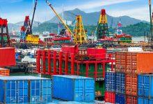 تصویر از حجم تجارت خارجی در میانه تابستان